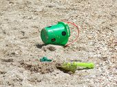 Toy Bucket And Shovel, Abandoned At The Beach1 poster