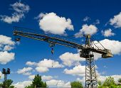 Crane And Clouds