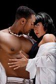 stock photo of nude couple  - Fashion Couple Dramatic image shot in studio - JPG