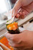 Japanisches Essen California roll