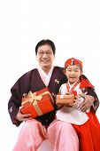 foto of hanbok  - Grandfather and Child - JPG