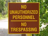 No Trespass Sign