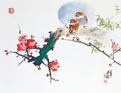 stock photo of abstract painting  - Asian Traditional Painting - JPG