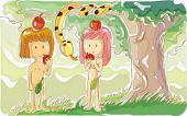 image of adam eve  - Bible Story - JPG