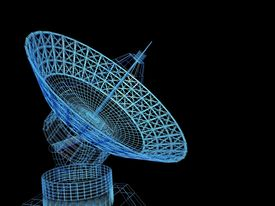 picture of telecommunications equipment  -  Satellite dish - JPG