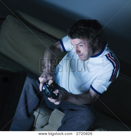 poster of Man Playing Video Game