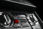 Air Conditioning Button Inside A Car. Climate Control Ac Unit In The New Car. Modern Car Interior De poster