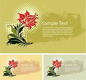 vector illustration floral background