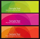 set abstract vector banners