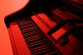 Piano In Red poster
