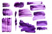 Brush Strokes With Watercolor Paint On Paper Brush Strokes With Watercolor Paint On Paper poster