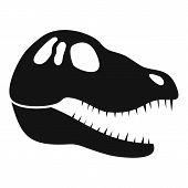 Dinosaur Skull Head Icon. Simple Illustration Of Dinosaur Skull Head Vector Icon For Web Design Isol poster