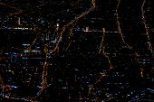 Beautiful Photo Picture Of Istanbul In The Night From The Airplane Sky poster