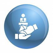 Bribery Political Candidate Icon. Simple Illustration Of Bribery Political Candidate Icon For Web De poster
