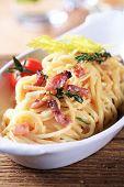 Italian pasta dish - Spaghetti alla carbonara