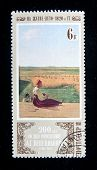 USSR - CIRCA 1980: A stamp printed in the USSR shows a painting by the russian artist 	 Vasnetsov
