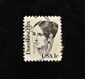 USA - CIRCA 1986: A stamp printed in USA shows Dorothea Dix, circa 1986.