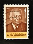 USSR - CIRCA 1970s: A Stamp printed in the USSR shows portrait of the Academician Abram Ioffe circa 1970s.