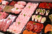 Pork Display In Butcher Shop