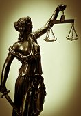 stock photo of judiciary  - Antique Statue of justice - JPG