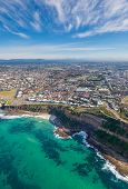 Aerial View Of Cooks Hill And Bar Beach In Newcastle New South Wales Australia Featuring Susan Gilmo poster