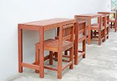 Hardwood Furniture, Indoor Wooden Chair And Table Set. poster