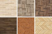 Collection Of High Resolution Wooden Parquet Patterns. Seamless Textures Of Different Wood poster