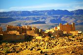 Kasbah in Atlas Mountains, Africa