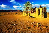 Ruinas marroquíes en las montañas del Atlas, África