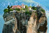 stock photo of unique landscape  - Meteora Monasteries - JPG