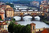 Bridges over Arno River, Florence, Italy,Europe