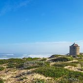 Atlantic Ocean Coastline Landscape Along The Camino De Santiago Portuguese In Portugal, Europe poster