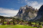 Grindelwald Village in Berner Oberland, Switzerland
