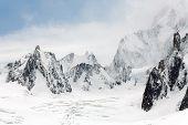 Mer de Glace glaciar, Haute-Savoie, França