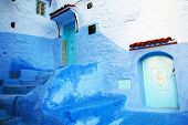 Architectural details in Chefchaouen, Morocco, Africa