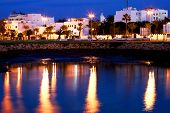 pic of asilah  - Islamic architecture by night Asilah old medina - JPG