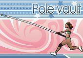 stock photo of pole-vault  - Pole vault - JPG