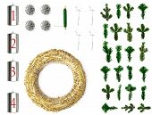 Top View Flatlay Of Parts For Making A Advent Or Christmas Wreath poster