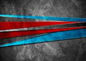 Grunge Tech Material Contrast Red, Blue And Dark Grey Corporate Texture Background. Vector Illustrat poster
