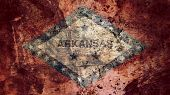 Very Grungy Vintage Arkansas Flag, Grunge Background Texture poster