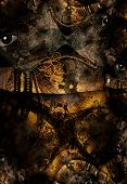 Grunge Dark Textured Bridge Abstract