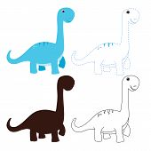 Dinosaur Worksheet Vector Design, Dinosaur Artwork Vector Design poster