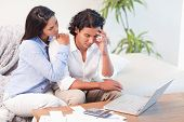 Frustrated young couple underestimated their expenses