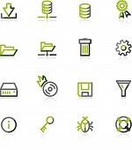 Green-Gray Server Icons