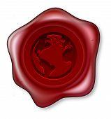 World Globe Sealing Wax