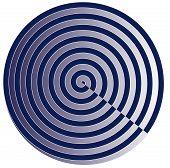 Círculo de espiral azul