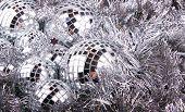 Mirrow Christmas Balls On Silver