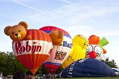 Barneveld, The Netherlands - 17 August 2012: Colorful Air Balloons Taking Off At International Ballo