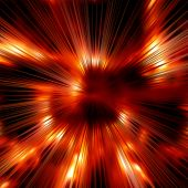Fiery Rays Background