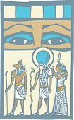 picture of anubis  - Anubis and Horus the Pharaoh - JPG